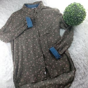 Melrose and Market Buttoned Tunic Top Sz XS